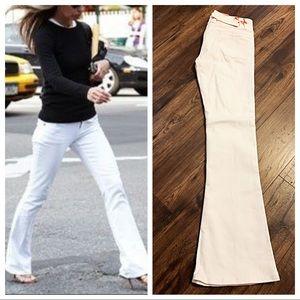Denim - Chic white flare jeans
